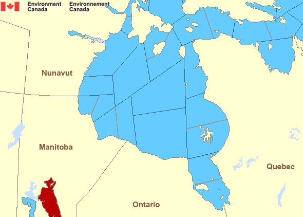 Map of Hudson - Hudson Bay marine weather areas