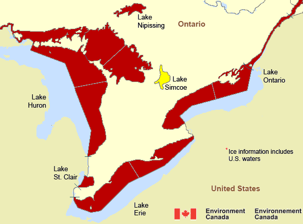 Canadian Shield Wikipedia At Map Of Canadian Lakes Yellow And - Lake erie topographic map