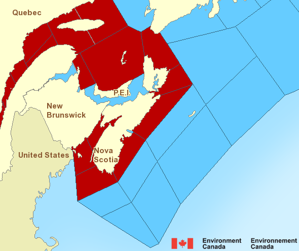 Marine Weather Map.Atlantic Maritimes Marine Weather Environment Canada