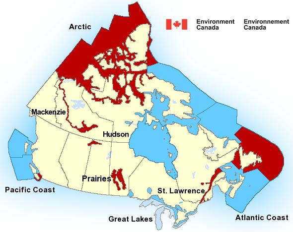Canada Marine Map