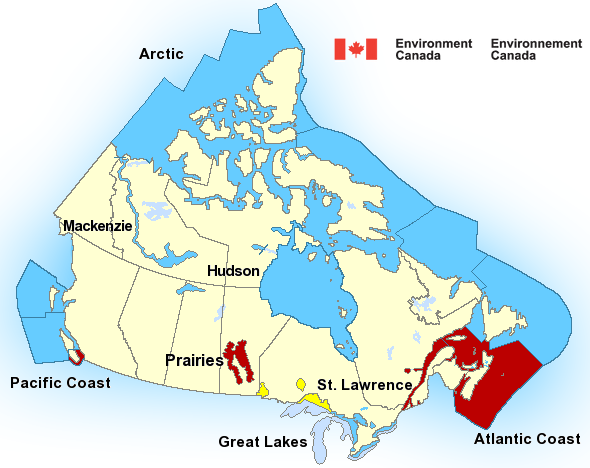 Map of Prairies - Manitoba Lakes marine weather areas