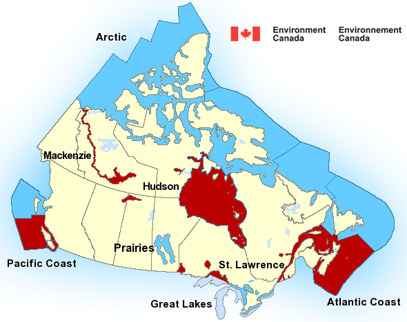 Map of Atlantic - Maritimes marine weather areas