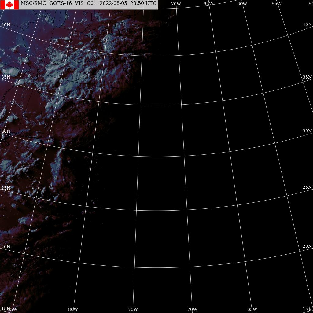 GOES East - États-Unis - visible