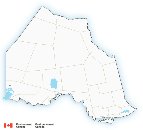 Map of Ontario - north