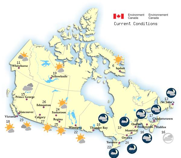 Map Of Canadas Wonderland 2017.Canadian Weather Environment Canada