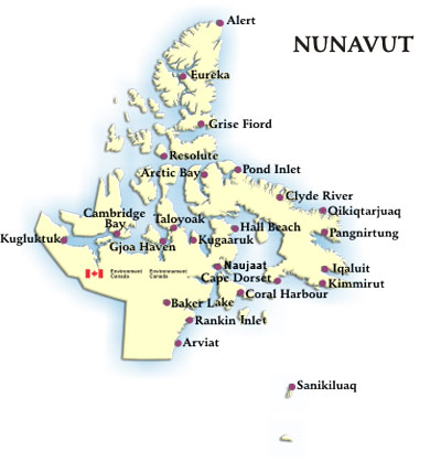 Nunavut Weather Conditions and Forecast by Locations Environment