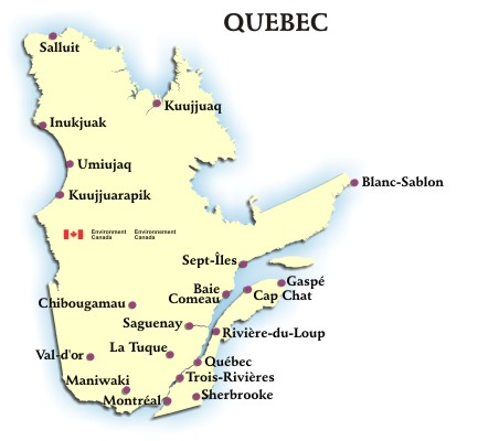 Quebec Weather Conditions And Forecast By Locations