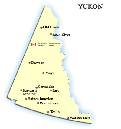 Carte Canada Yukon.Yukon Weather Conditions And Forecast By Locations