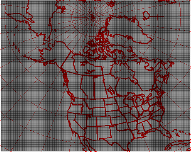 10km resolution geographical grid coverage