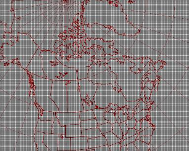 15km resolution geographical grid coverage